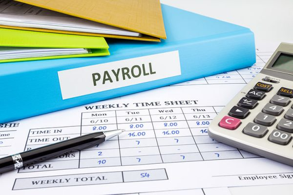 timesheet and payrollbook with calculator