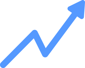 Growth chart arrow