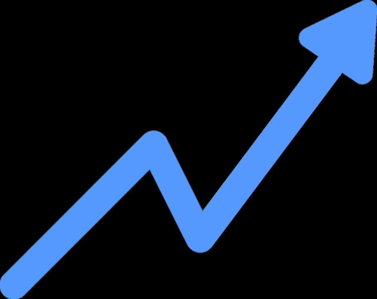 Growth chart arrow
