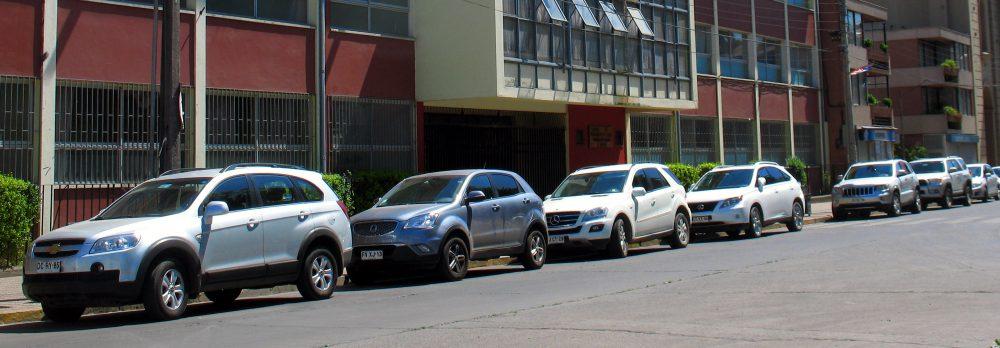 Street of SUVs