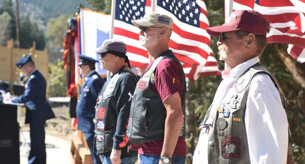 Veterans at ceremony