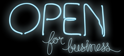 Open for business neon