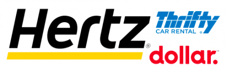Hertz, Thrifty and Dollar rental car logos
